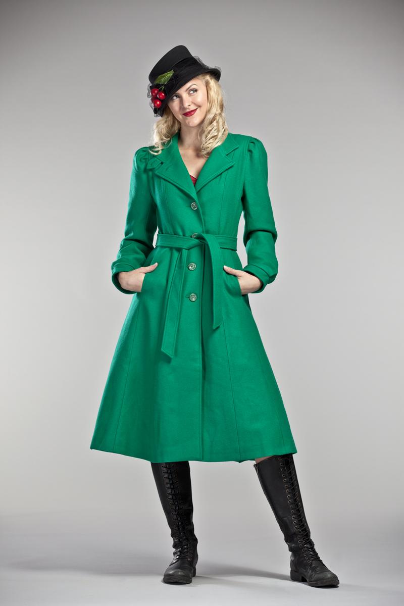 Green winter jackets for women